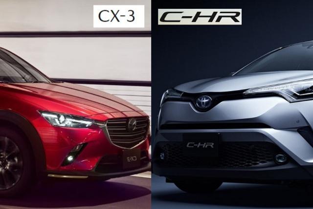 CX-3とC-HRを比較!どっちがおすすめ?
